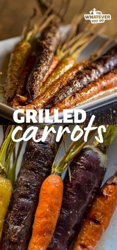 These delicious Traeger Grilled Carrots are cooked on the pellet grill, drizzled with browned butter, and seasoned with fresh herbs. It is perfect for holiday dinners or Tuesday evenings.