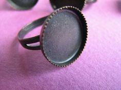 16 mm Adjustable Bezel Ring Base Bronze by Turkeysupply http://etsy.me/1B6dF7K #jewelry #ring #mount #brass #jewel #gem #bezel #setting