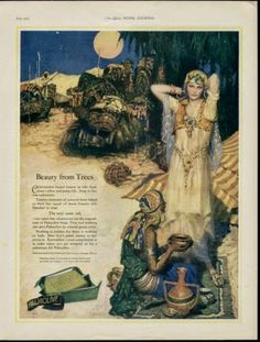 vintage Palmolive soap ad: inkspired musings: Arabian Nights and dancing in the moonlight