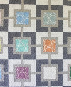 "Pearl Gray quilt by Christa Watson. ""I quilted a series of lines and circles which I named String of Pearls."""