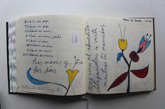 LAURA GUILLÉN 1-11-15 DIARIO SKETCHBOOK ARTE ART ARTISTA ARTIST FLORES FLOWERS LETRAS LETTERS AMOR LOVE BEBE BABY