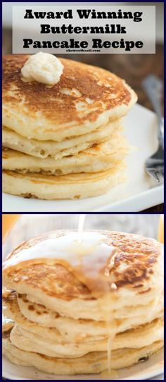 Melt in Your Mouth Buttermilk Pancakes The absolute best recipe (after testing hundreds) for buttermilk pancakes. In fact, these are melt in your mouth buttermilk pancakes! - Melt in Your Mouth Buttermilk Pancakes via What's For Breakfast, Breakfast Pancakes, Pancakes And Waffles, Breakfast Dishes, Breakfast Recipes, Pancake Recipes, Pancake Pan, Buttermilk Recipes, Buttermilk Pancakes Easy