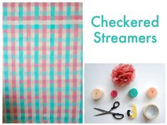 Interweaving streamers create a colorful, checkered backdrop in no time at all. | 32 Unbelievably Cheap And Beautiful DIY Photo Backdrops