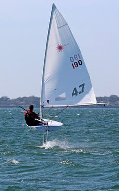 When a Laser takes flight you know foiling has gone mainstream. But still, no thanks