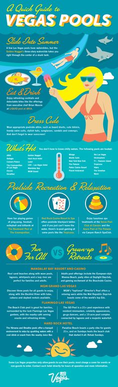 A Quick Guide to the Las #Vegas #Pool Scene. Just in time for Fourth of July and #VegasSeason! #summer