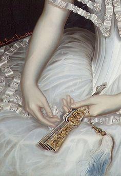 sollertias:Carolina Gutiérrez de la Fuente by Pablo Petrovits Temesvar, 1854 (detail)