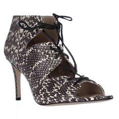 Via Spiga Vibe 2 Open-Toe Leather Bootie, Women's, Size: 8.5 Medium