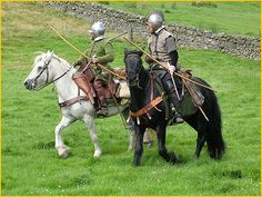 """Raiders would have been skilled archers and from the saddle, could rapidly inflict devastating injuries with a variety of arrows."" (fm the book, ""Border Reiver 1513 - p Photo from ""The Borderers"" Living History group. pic by Simon Roper Mounted Archery, Medieval Fantasy, Medieval Horse, Traditional Archery, Scottish English, Military Guns, 16th Century, My Images, The Book"