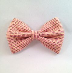 Pink Tweed Hair Bow • Pink And Gold Bow • Wool Hairbow • Classy Hair Bow • Mauve Hair Clip • Checked Hair Bow • Women's Workwear