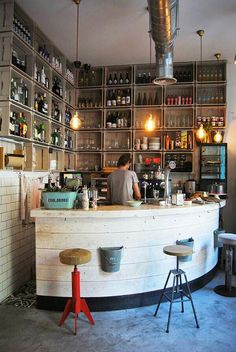 The appealing 50 Best Vintage Home Bar Decor Ideas Cafe Bar Home Bar Inside Bar Decor Ideas digital photography below, … Diy Home Bar, Home Bar Decor, Bars For Home, Restaurant Bar, Restaurant Design, Bar Redondo, Café Design, Design Trends, Design Ideas