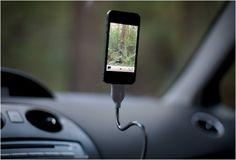 Yeah. I need this. Bobine stiff-but-flexible gooseneck charge-cord/tripod
