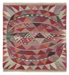 Ann-Mari Forsberg (Sweden, 1916-1992) tapestry for Märta Måås-Fjetterström. Sold Wright Auction 11/14/13; estimate $1,000-1,500/result $3,302.