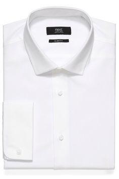 Weißes Business-Hemd  100% Baumwolle. Maschinenwäsche....