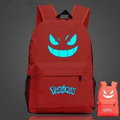 Pokemon Backpack - Luminous Glow - School, travel, Sports Carry Back Pack Bag - 6 Color choices