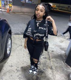Black Girl Fashion, Tomboy Fashion, Teen Fashion Outfits, Streetwear Fashion, Fashion Women, Swag Outfits For Girls, Cute Swag Outfits, Girl Outfits, Tomboy Style