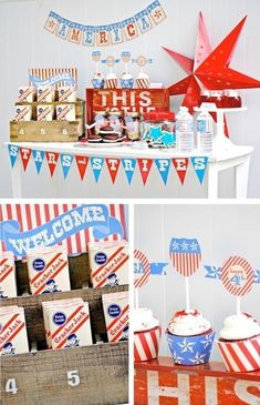 America Stars and Stripes 4th of July Independence Day Party FULL of ideas via Kara's Party Ideas KarasPartyIdeas.com