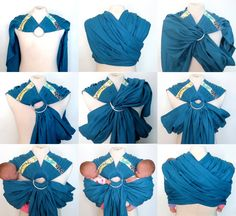 TwinSling BlossomDouble Ring sling Baby carrier by SlingBlossom