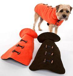 Melton Wool Blend Solid Color Toggle Dog Coats
