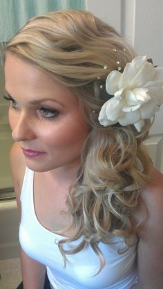 Bridal Hair and makeup for a  Beach Wedding. Hair and makeup by www.WendyAnneBeauty.com