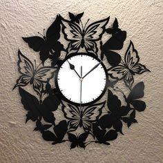 Butterflies Nursery Wall Clock
