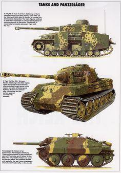 Panzerkampfwagen IV Ausf.J, Königstiger Henschel Turrett, Jagdpanzer Hetzer 38 T