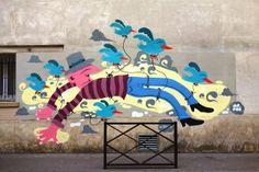 Sunday Street Art : Mr Pee pour l'assoc' le Ratrait - rue du Retrait - Paris 20 | ParisianShoeGals