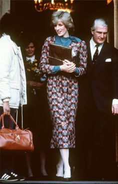 December 8, 1982: Princess Diana on her first solo engagement at the Royal Marsden Hospital, London.