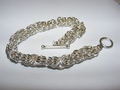 Sterling silver tryzantine bracelet from a kit by the wonderful Lynne of www.thedragonflycompany.com  Your kits are super Lynne Thank you. did this one in record time - 1.5hrs from opening the kit