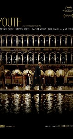 Directed by Paolo Sorrentino.  With Michael Caine, Harvey Keitel, Rachel Weisz, Paul Dano. A retired orchestra conductor is on holiday with his daughter and his film director best friend in the Alps when he receives an invitation from Queen Elizabeth II to perform for Prince Philip's birthday.