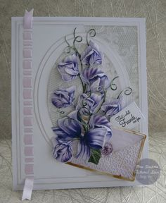 Hello everyone, Sharing my DT samples for Tattered Lace. Launching on Create and Craft noon Friday . Create And Craft Tv, Tattered Lace Cards, Envelope Lettering, Purple Cards, Presents For Mom, Mothers Day Cards, Scrapbook Cards, Scrapbooking, Sympathy Cards