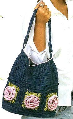 Simple crochet bag with diagram