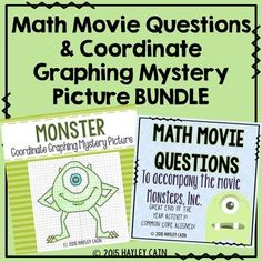 Math Movie Questions and Coordinate Graphing... by Hayley Cain - Activity After Math | Teachers Pay Teachers