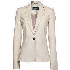 Mango Tailored Blazer, Beige ❤ liked on Polyvore