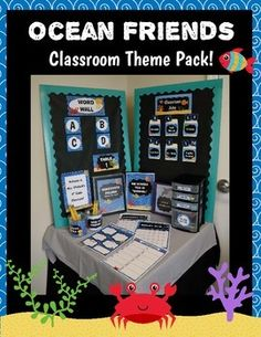***SEE PREVIEW FILE FOR EXAMPLES & PICTURES OF EACH ITEM!***Looking for a cute and easy way to organize and brighten up your classroom? This ocean themed set is sure to help you and your students get excited about school!  Not to mention, you can use this for years instead of buying store bought items every year.