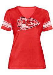 Kansas City Chiefs Womens Red First Pick T-Shirt