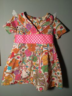 Oliver + S Library dress, Liberty lawn, 'hello kitty' print