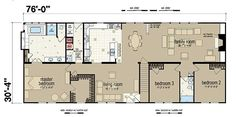 Floor Plans: Champion 381L - Manufactured and Modular Homes