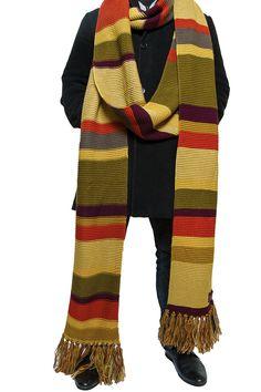 Official Doctor Who 4th Doctor (Tom Baker) Scarf 18 ft Long Season 16 - 17 – LOVARZI