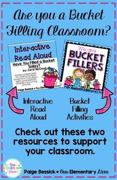 Have You Filled a Bucket Today? by Carol McCloud is an excellent book to start off the year and back to school.  This bundle includes an Interactive Read Aloud with everything you need for 2 complete readings and bucket fillers activities.  This resource includes activities, printables, ideas and even bulletin board set up.  This is a great resource to start off your year by being a bucket filling classroom.