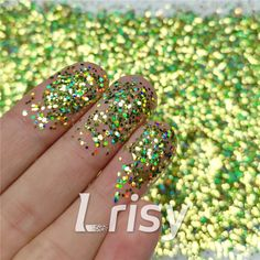 These cosmetic grade holographic glitter are ultra-thin and have a chameleon like effect in that their colors seem to change as you look at them from at different angles and in background color. Selling bulk poly glitter, and offer wholesale. Bulk Glitter, Glitter Slime, Loose Glitter, Holographic Glitter, Green Glitter, Glitter Nails, Long Nail Designs, Acrylic Nail Designs, Cosmetic Grade Glitter