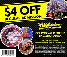 Adventuredome Coupons 2014 - Discount Codes & Promotion Coupons