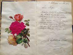 Een gedichtje van mijn opa in mijn poeziealbum 1970 Printing Press, Bibliophile, Vintage Cards, My Childhood, Albums, German, Memories, Prints, Nostalgia
