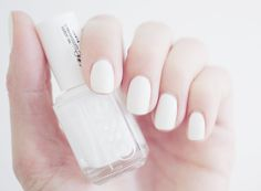 Fancy - Blanc Nail Polish by Essie White Nail Polish, White Nails, Pink Nails, Shellac, Finger, Types Of Nails, Cute Nail Designs, Manicure And Pedicure, Beauty Nails