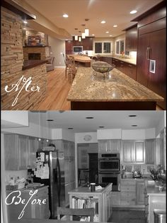 kitchen remodels before and after | ... Oak Before and After Kitchen and Family Room Remodel Before & After