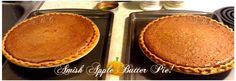 Save Print AMISH APPLE BUTTER PIE   Serve with whipped cream! Ingredients 1½ cups apple butter ½ cup packed dark brown sugar ¼ teaspoon…