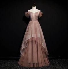 Pretty Dresses, Beautiful Dresses, Evening Dresses, Prom Dresses, Royal Dresses, Fairytale Dress, Pink Tulle, Costume Design, Ideias Fashion