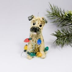 Border Terrier Christmas Ornament Figurine by TheMagicSleigh, $24.00