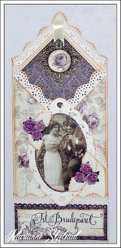 Mariannes papirverden.: Et bryllupskort - Pion Design