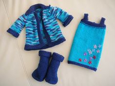 Knitted Doll Clothes by Rocketknit