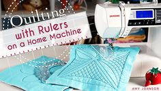 Learn how to use rulers and templates to easily quilt longarm motifs on your domestic sewing machine! Change the way you quilt and enjoy stunning results.